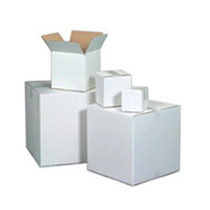 White Duplex Corrugated Boxes