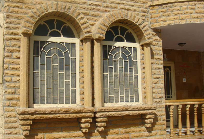 double frame stone window 04
