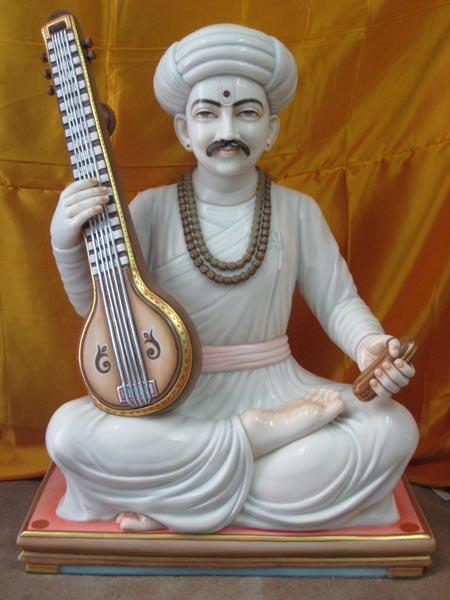 Marble Sant Tukaram Statue