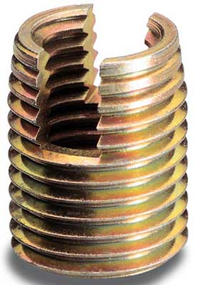 Slotted Self Tapping Threaded Inserts
