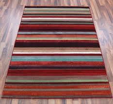 Multi Striped Chenille Rugs