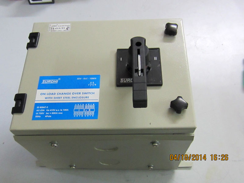 On Load Changeover Switches Changeover Switches Automatic