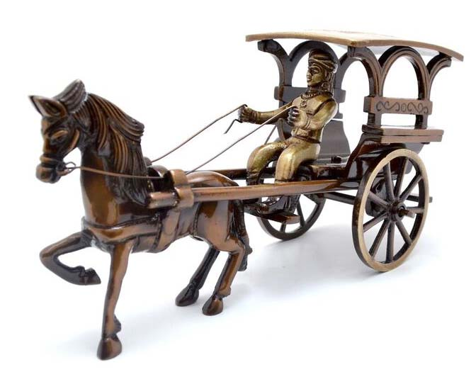 Brass European Horse Carriage