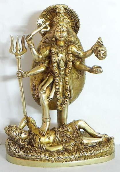 Brass Kali Mata Statue