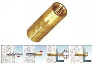 Brass Drop in Anchor