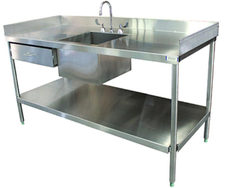 Stainless Steel Laboratory Round Legs Sink Table Suppliers