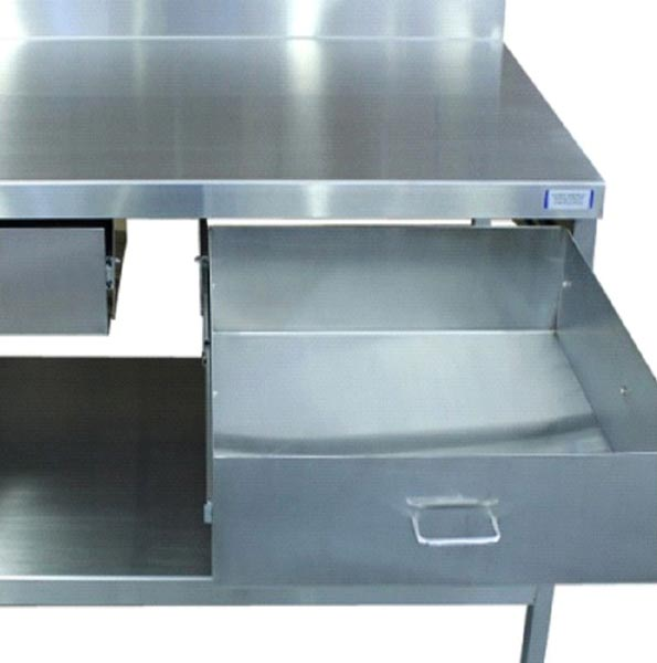 Stainless Steel Single Drawer Table
