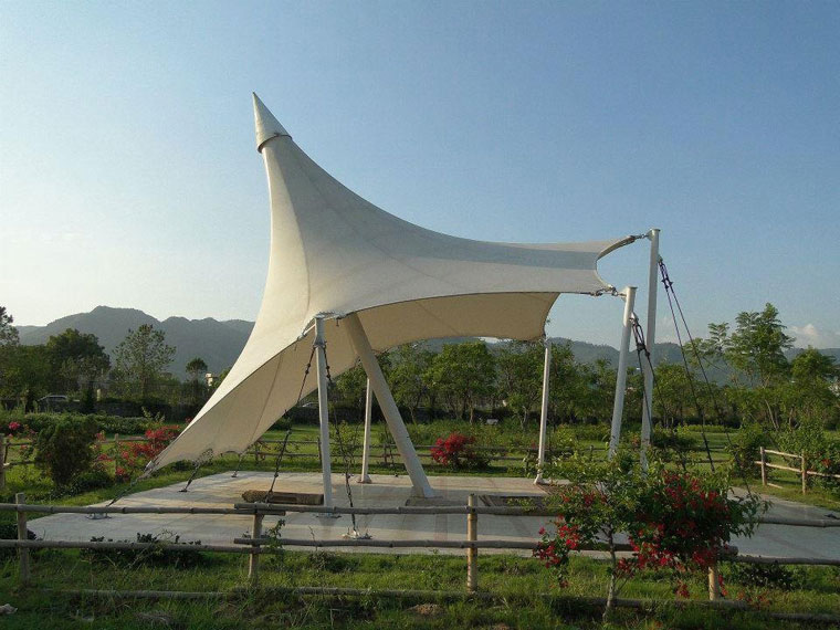 Tensile tents tensile fabric tent tensile membrane for Sun shade structure