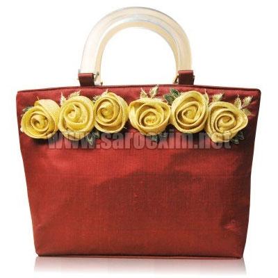 Plastic Fiber Handle Handbags