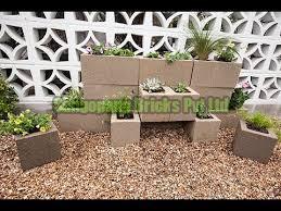 Concrete Flower Block 03