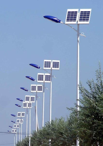 Solar Street Light on solar panel led lights