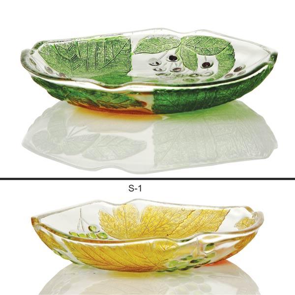 1 Piece Glass Snack Plate