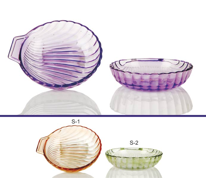 2 Piece Glass Snack Plate Set