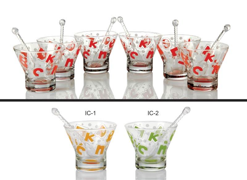 Glass Ice Cream Cups