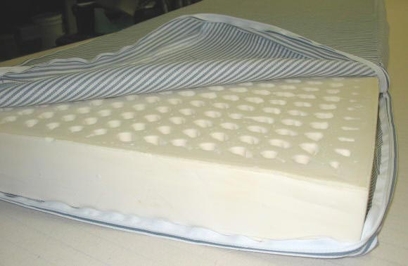 Foam or latex mattress