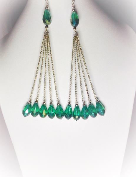 Chain Tassel Earrings 02