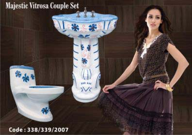 Majestic Wash Basin and Toilet Set