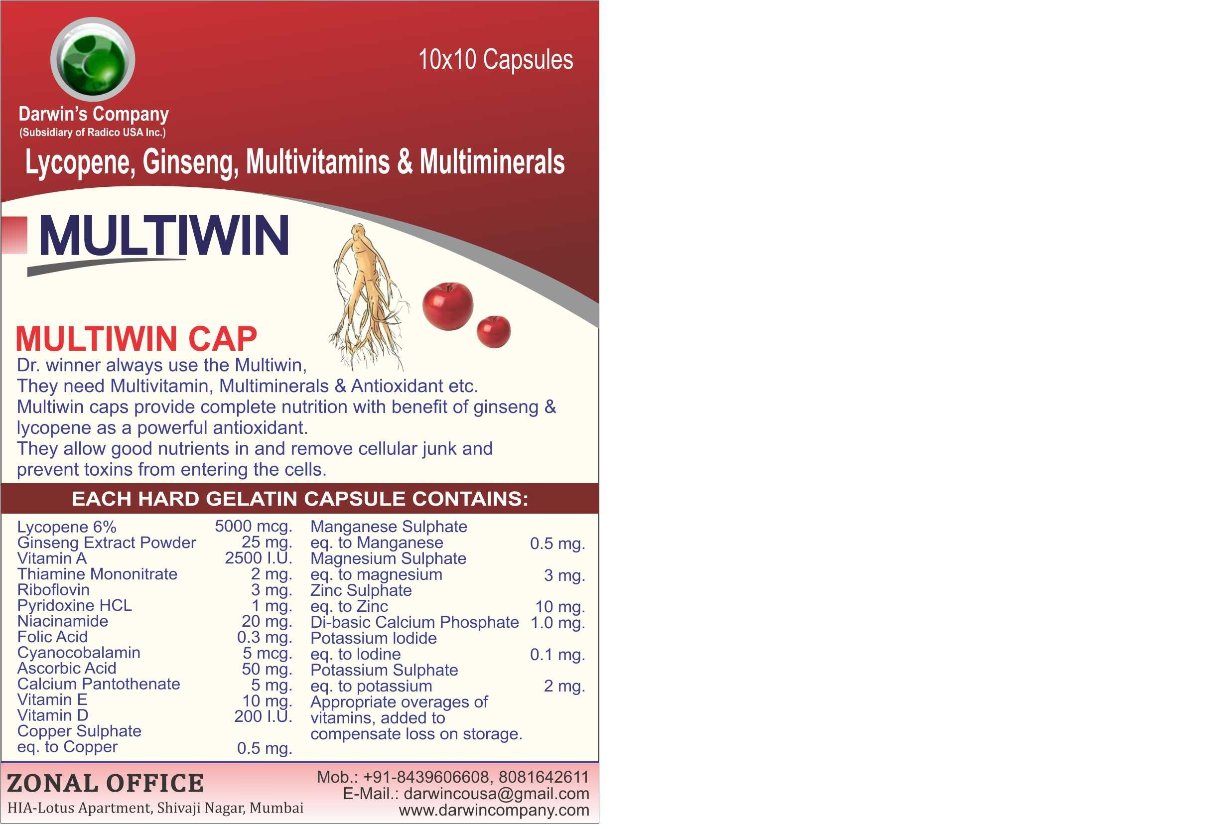 Multiwin Capsules For Mens