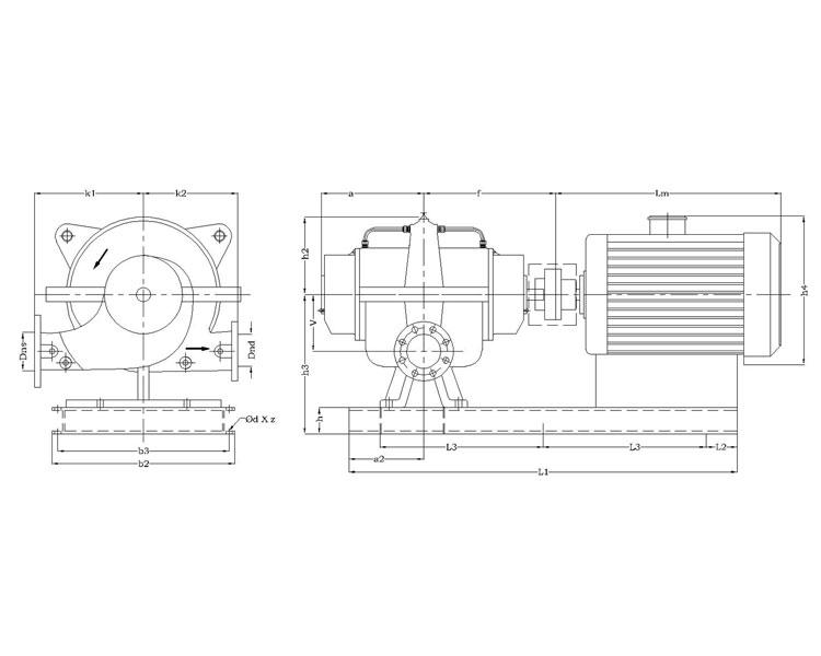 G.A. Horizontal Split Casing Pump Model