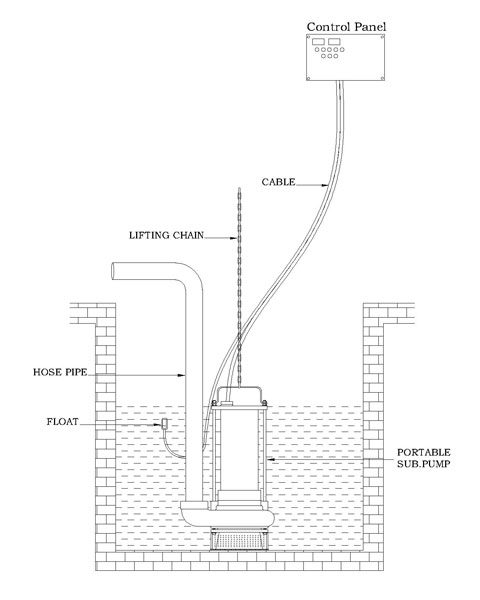 Inst. Portable Pump with Float Model