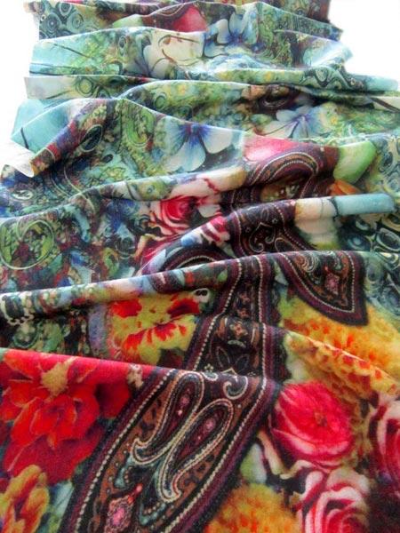 Digital Printed Wool Shawl 03