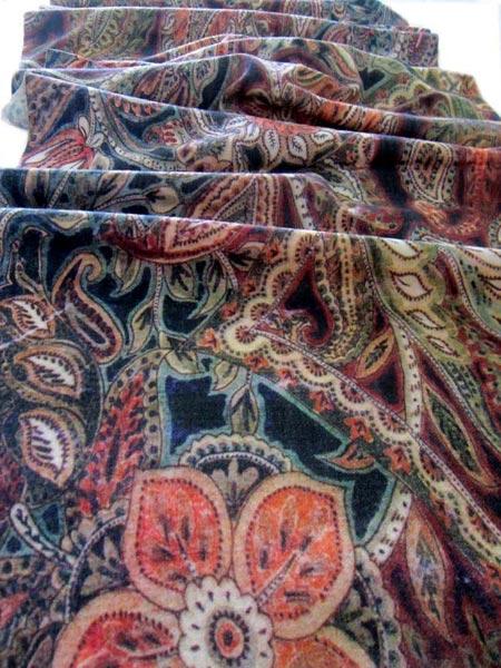Digital Printed Wool Shawl 05