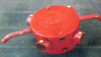 Red Colour Conduit Fan Box