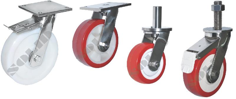 Medium Duty Stainless Steel Caster Wheels
