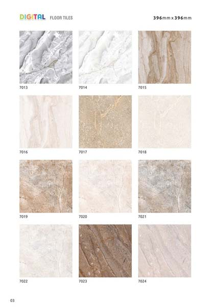 Digital Floor Tiles 396x396mm