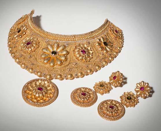 Designer Gold Necklace Set