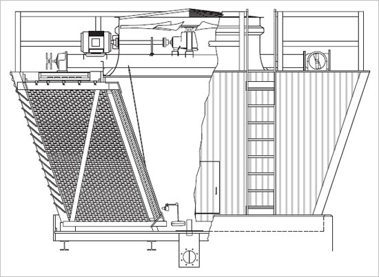 Cross Flow Type Cooling Tower