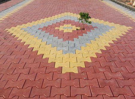 I-Shape Paver Interlocking Tiles 01