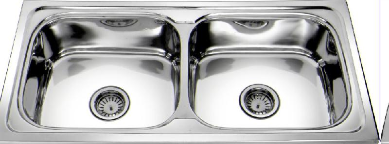 Stainless Steel Double Bowl Kitchen Sink (Twin Series)