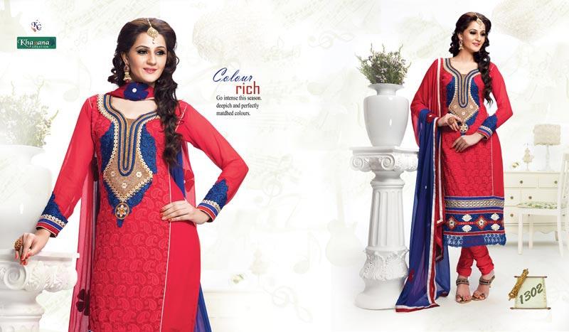 Printed Churidar Suits