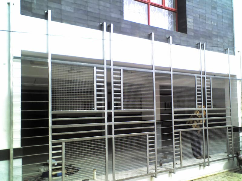 Stainless steel grill for Latest balcony designs in india