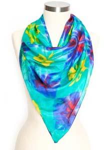 Tie Dye Silk Scarves