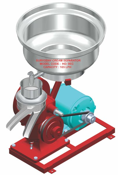 Hand And Motor Driven Milk Cream Separator (HD - 9 EC)