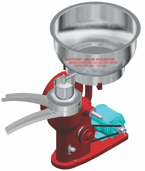 Hand And Motor Driven Milk Cream Separator (HD - 109 EC)