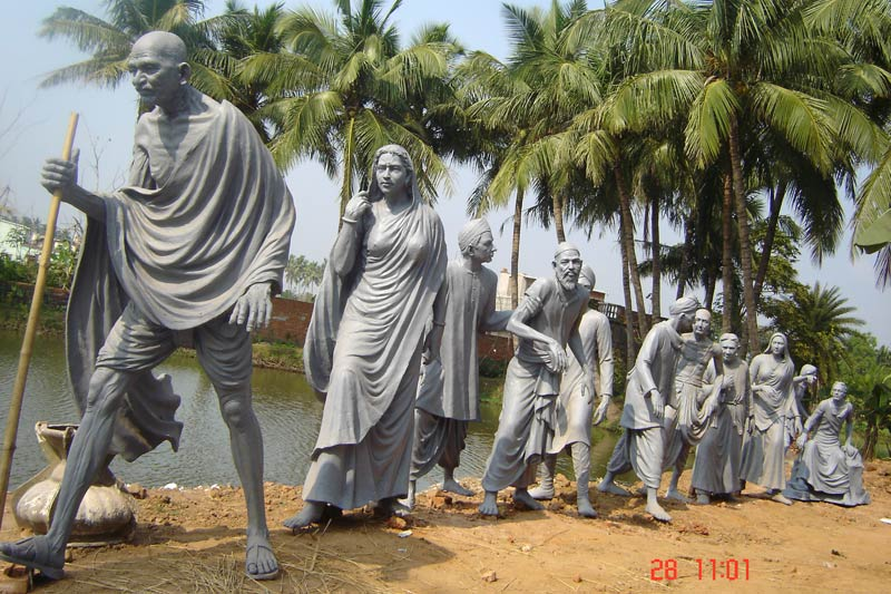 national heroes statue dandi march of gandhi ji statue supplier