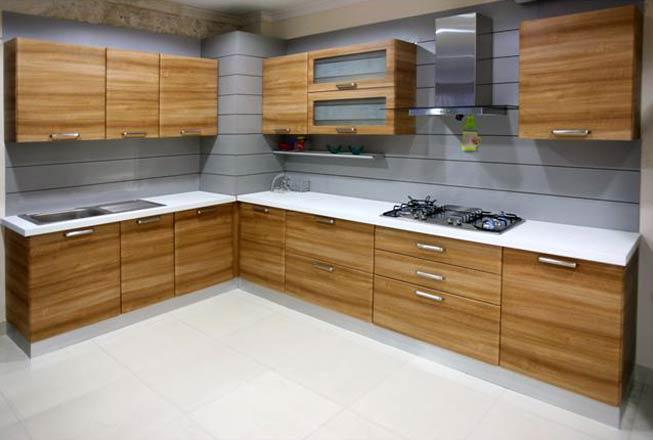 Wooden Modular Kitchen Furniture