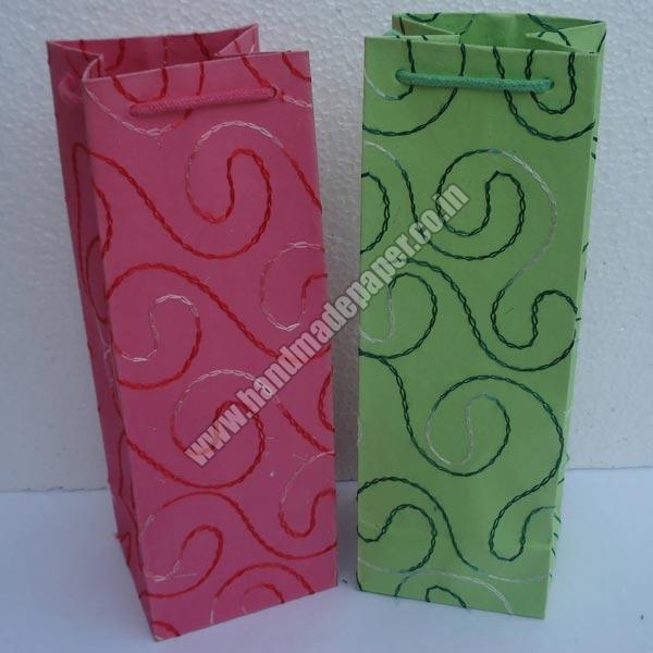Handmade Paper Wine Bottle Bags