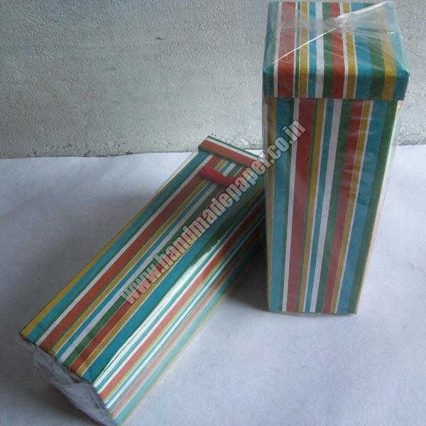 Handmade Paper Wine Bottle Boxes