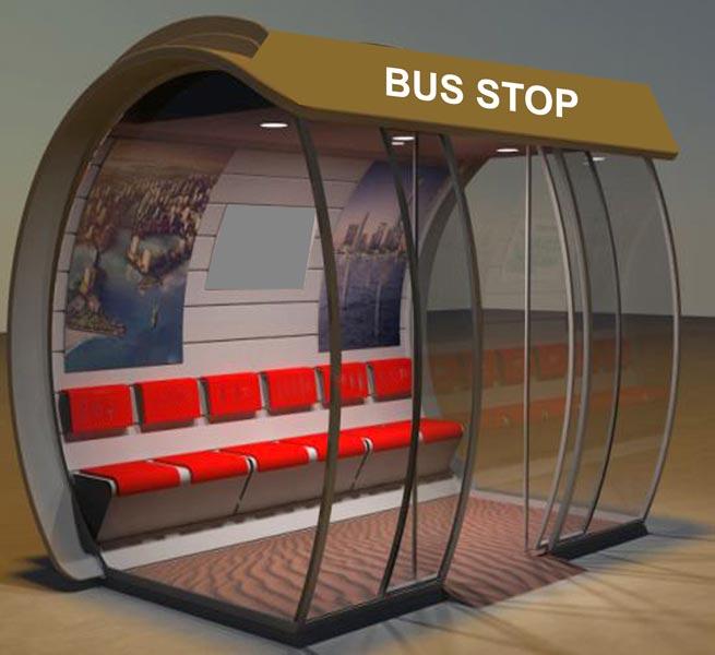 Prefabricated Bus Shelter : Roadside digital signage prefab coffee shop suppliers