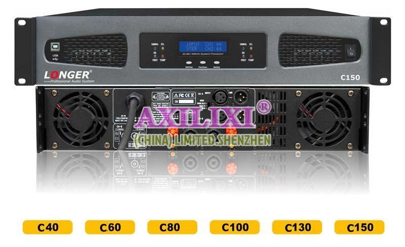 LONGER Audio 2x150 Watts Professional stereo Power Amplifier C-150