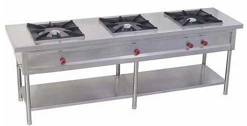 3 Burner Indian Cooking Range 3 Burner Range Exporters