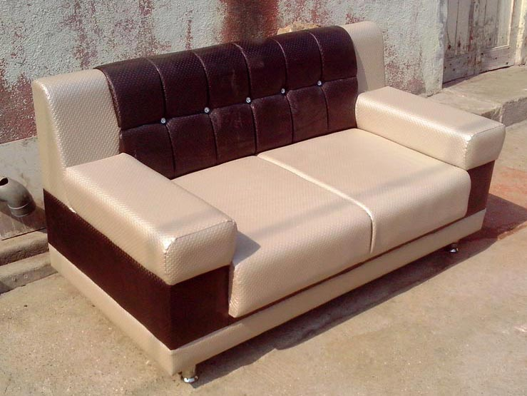Designer Fabric Sofa Set 1 on Wooden Legs Couch
