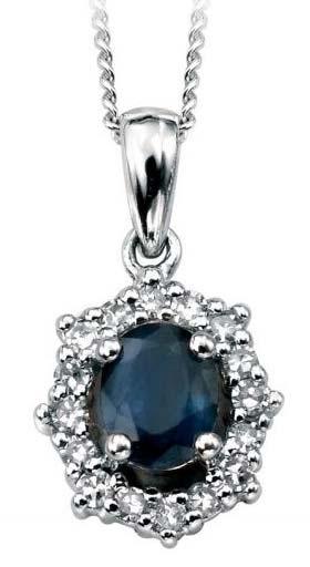 Diamond Gemstone Pendant (CWDGP220)