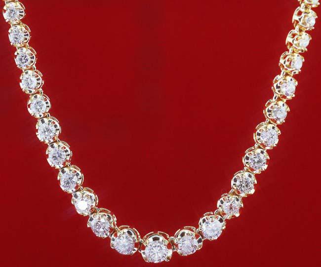 Diamond Solitaire String Necklace (CWDBGR001)
