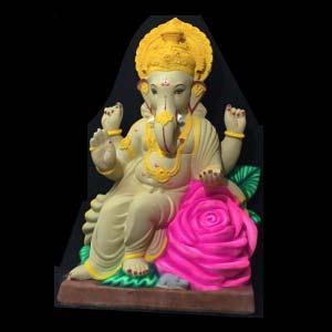 """Gulaab Phool Ganesha Idol 23"""""""