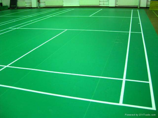 Badminton Court Vinyl Flooring